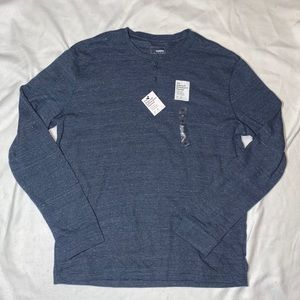 NWT - Sonoma Thermal Henley Shirt